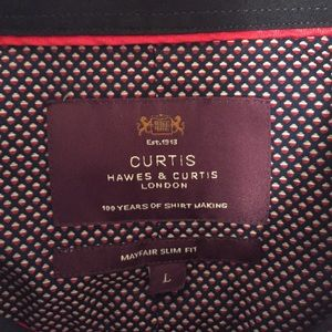 Hawes & Curtis Shirts - Hawes & Curtis Men's Slim Fit Smart Casual Shirt